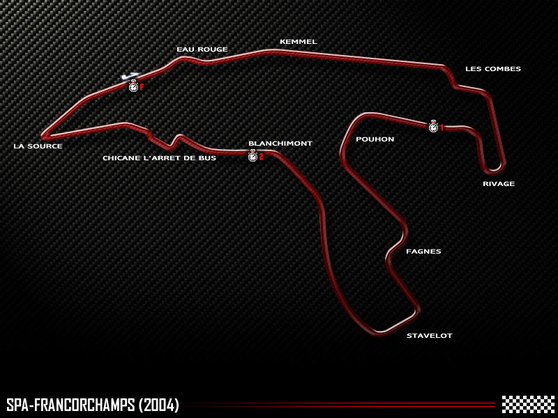 Circuit de Spa-Francorchamps, 2004 track