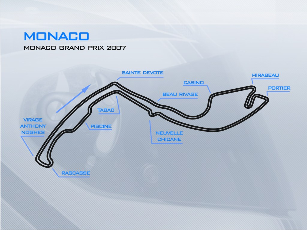 Monaco 2007 track
